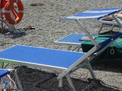 Beach chair with canopy...wonderful invention