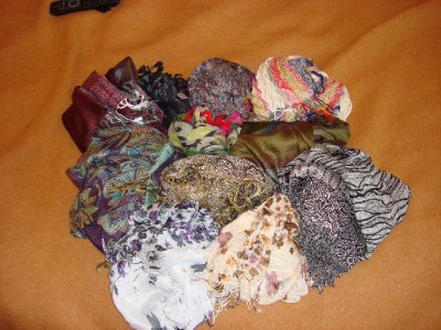 My collection of scarves @ $5 euro each