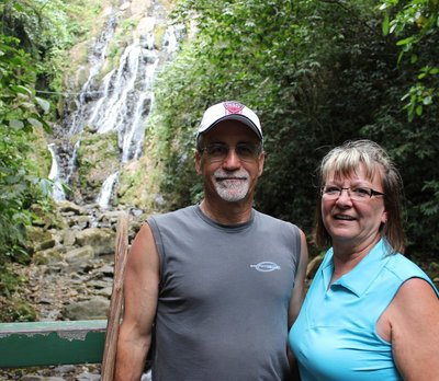 US AT THE FALLS IN ANTON VALLEY