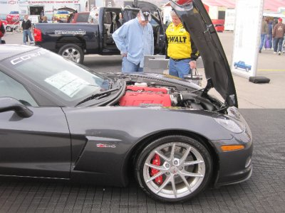 Under the hood of a corvette