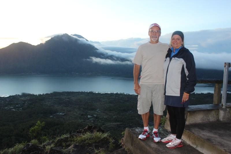 Sunrise at top of Mt. Batur