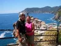 Tom and Els at Cinque Terre