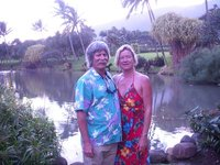 Tom and Els at the Maui Tropical Plantation for the inaugural ball