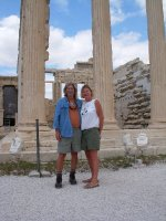 Tom and Els at the Acropolis