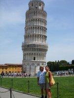 Els and Tom at Pisa
