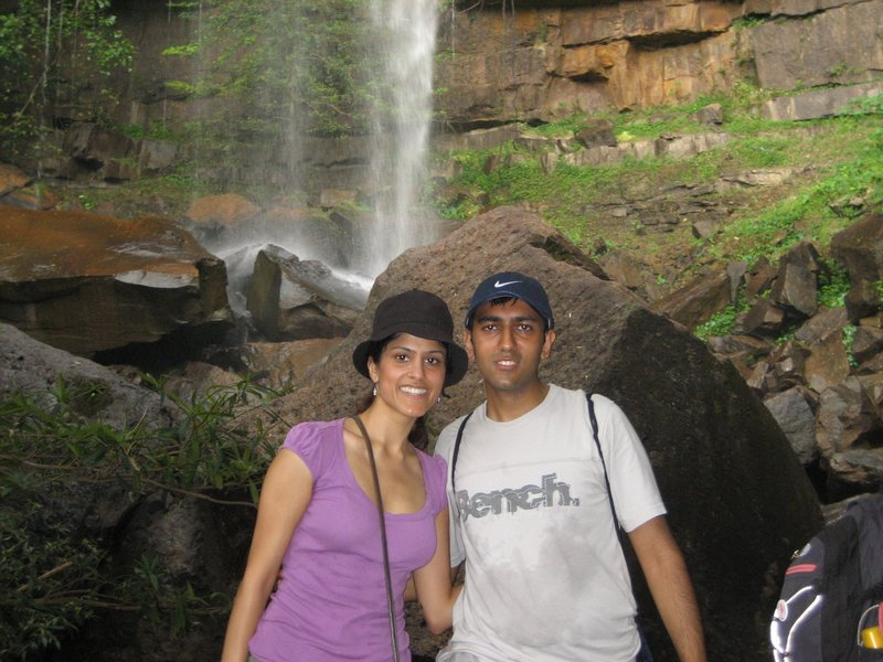 Ro & Nisha at the Waterfall