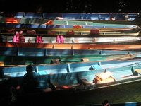 Colourful longboats