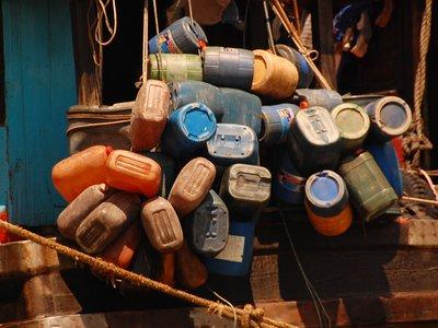 Plastic Jugs on Mekong