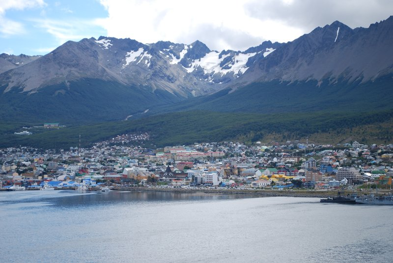 Ushuaia from deck of ship