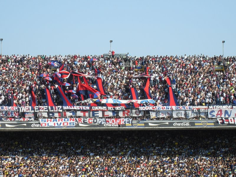 vs San Lorenzo in La Bombonera Stadium