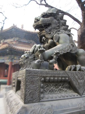 foot dragon in lama temple