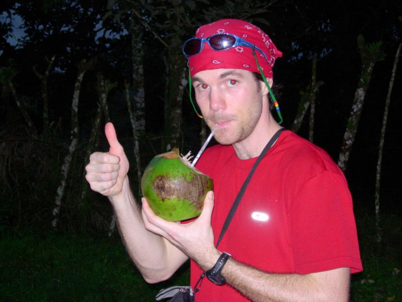 lew with coconut.JPG