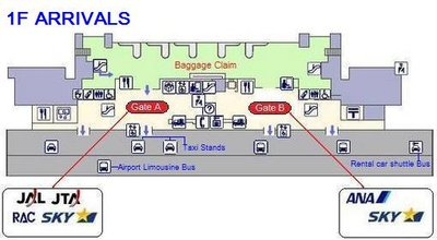 Naha airport 1st floor arrivals
