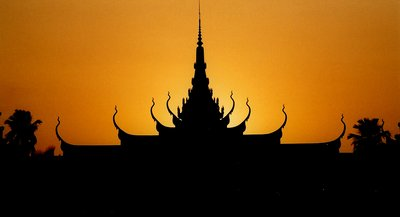Cambodian sunset in Phnom Penh