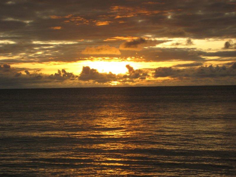 Sunset at Octopus Resort