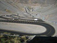 Descent into Chile from Puente del Inca border crossing