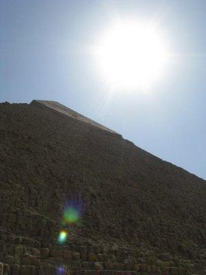 Closeup of Pyramid at Giza