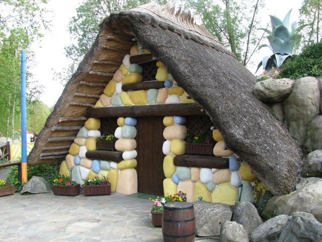 Asterix's Hut in the Gaulish Village