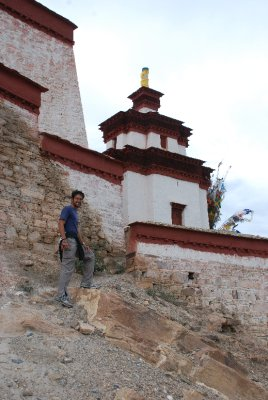 Andrew at Gyantse fort