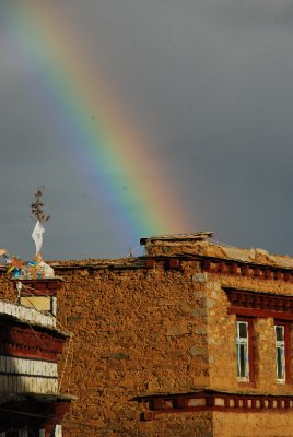 rainbow in Litang