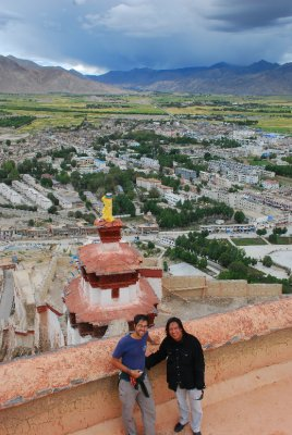 Gyantse view from fort