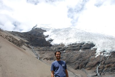 Andrew at Kharola Glacier