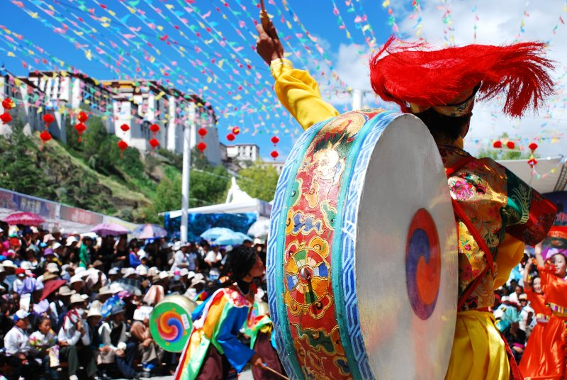 drummer boy behind Potala
