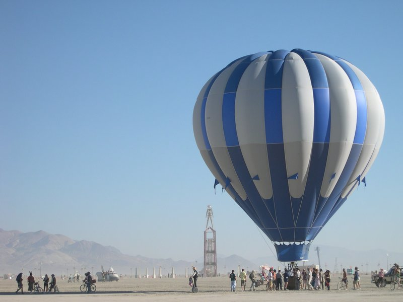 Burning Man 2008 - early morning hot air balloon