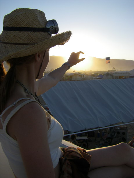 Burning Man 2008 - catching the sunset