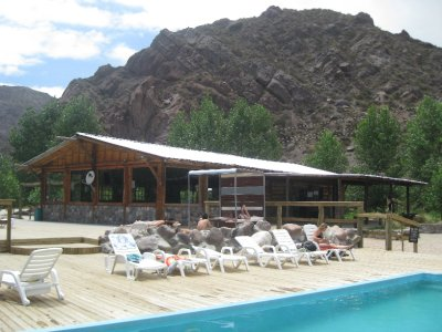 The pool at the rafting place