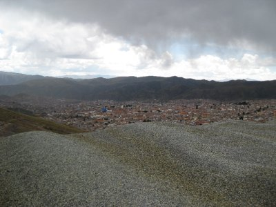 View of Potosi from near the mine