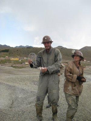 Josh holding dinamite