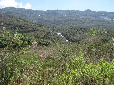 The valley surrounding the Santuario