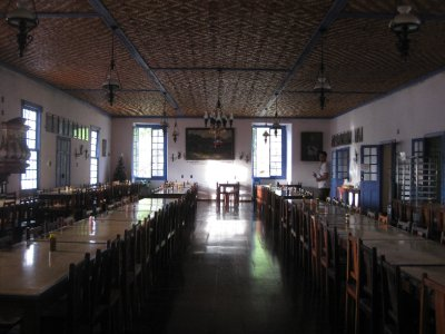 The dining hall at the Santuario do Caraça