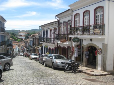 The steep and beautiful streets of Ouro Preto