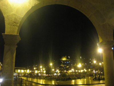 Plaza de Armas by night