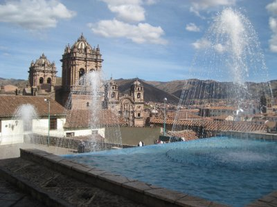 Fountains near the Inca Museum