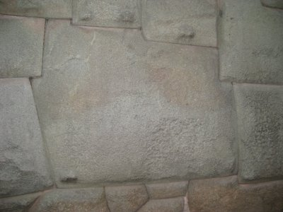The famous 12 sided Inca stone