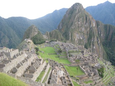 Wayna Picchu and Machu Picchu city