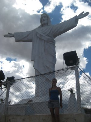 Me at the Christ statue on the hill