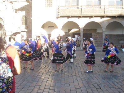 Dancing for Inti Raymi