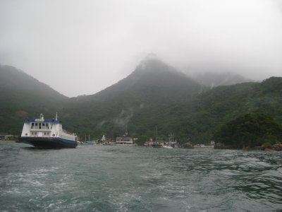 Leaving Ilha Grande - cloudy!