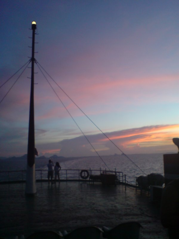 After sunset on ferry