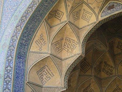 170 Iran Isfahan -Nice detailing at Hakim mosque