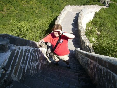 591 China Beijing - me at the top of the great wall