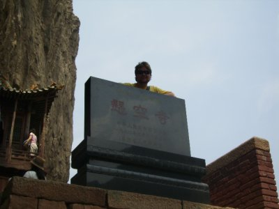 613 China Datong - Me at the Hanging Monastery