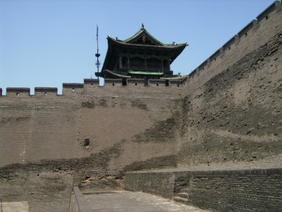 652 China Pingyao - City wall watch tower