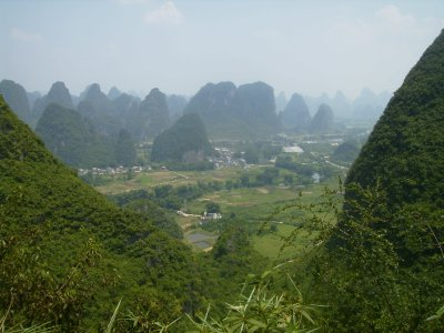 868 China Yangshuo - View from moon hill