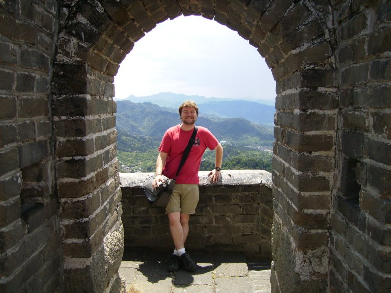 575 China Beijing - me at the great wall