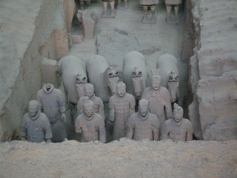 661 China Xian - Terracotta army tomb 1